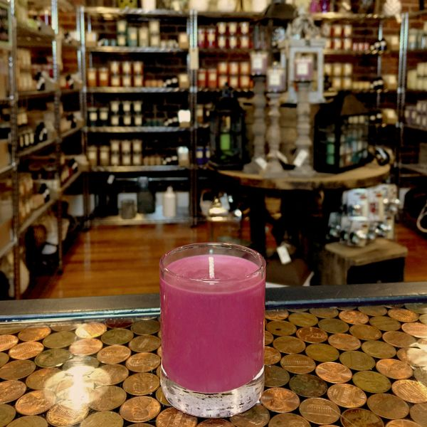 Pomegranate Twilight 2.5oz Soy Candle in Glass