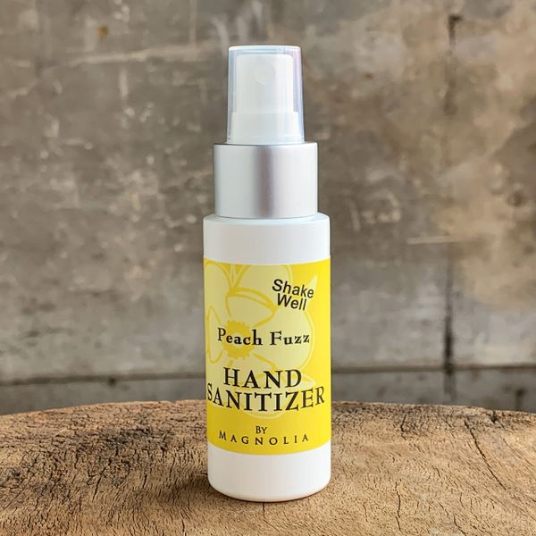 Peach Fuzz Hand Sanitizer Liquid, 2 oz Mister Bottle