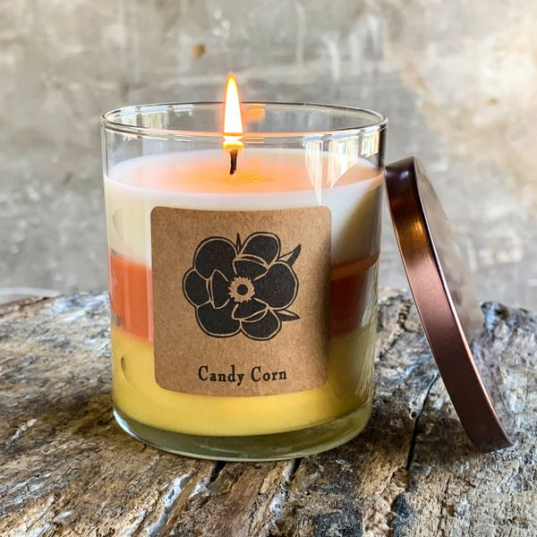 Candy Corn 10oz Soy Candle