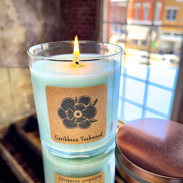 Caribbean Teakwood 10oz Soy Candle