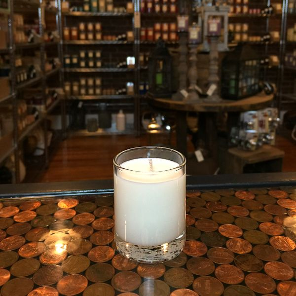 Candy Cane 2.5oz Soy Candle in Glass