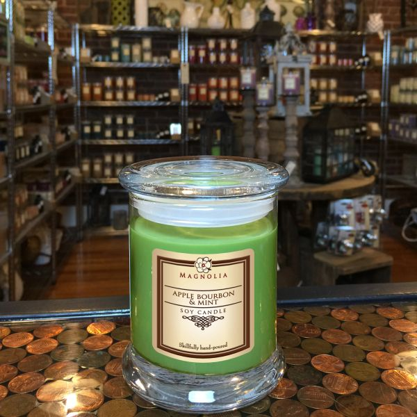 Apple Bourbon & Mint 10oz Soy Candle