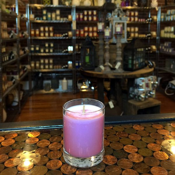 Black Currant Tea 2.5oz Soy Candle in Glass