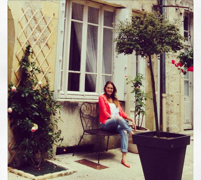 Owner Sallie Tamblyn and My Little French House Monflanquin France. Sallie Tamblyn copyright