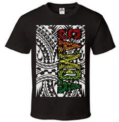 T-Shirt Samoa Rasta Black
