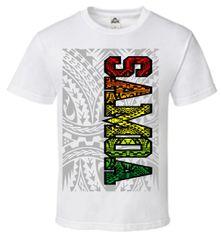 T-Shirt Samoa Rasta White
