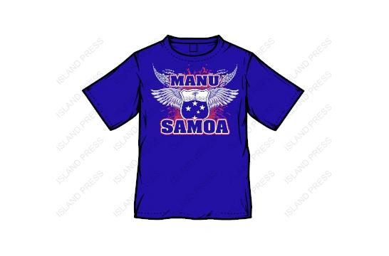 T-Shirt, Manu Samoa, 2017 design by Island Press