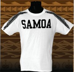 T-Shirt: SAMOA mamanu wings white