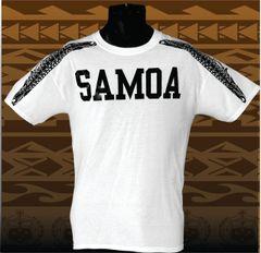 T-Shirt: SAMOA mamanu wings white