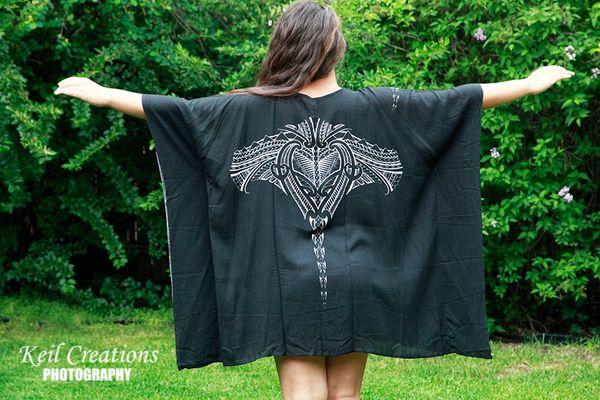 Poncho Shirt - Stingray Black