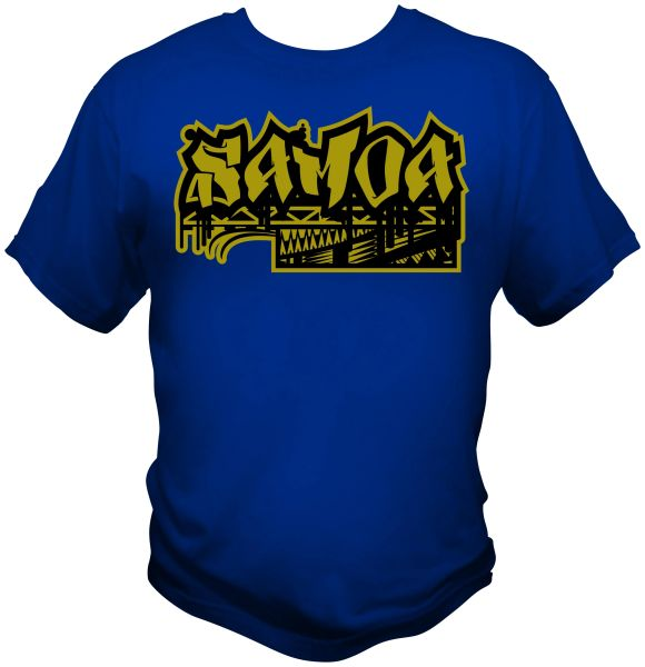 T Shirt: Samoa 2 Colours by One Tribe Graffix