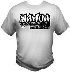 T-Shirt: Samoa 1 Colour by One Tribe Graffix