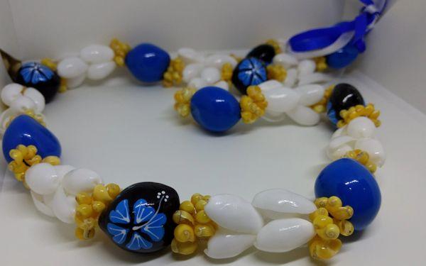 Kukuinut Lei Blue Hibiscus Mongo