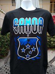 T-Shirt: Samoa Shiny Blue Shield