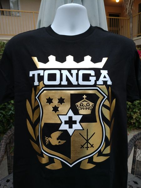 T-Shirt Tonga Golden Crown