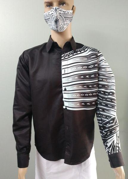 Shirt black with tattoo print