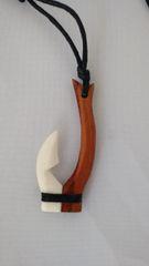 Bone Carving - Fish Hook Bone & Wood