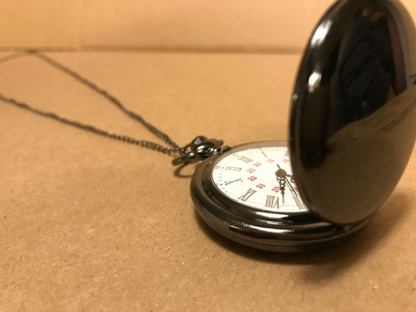Pocket or locket watch with chain