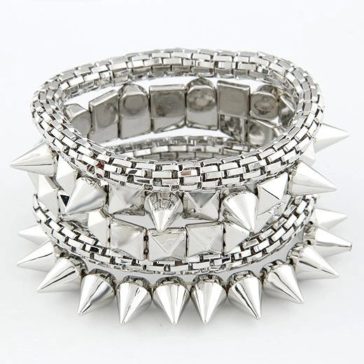 Alloy rocker bracelet set