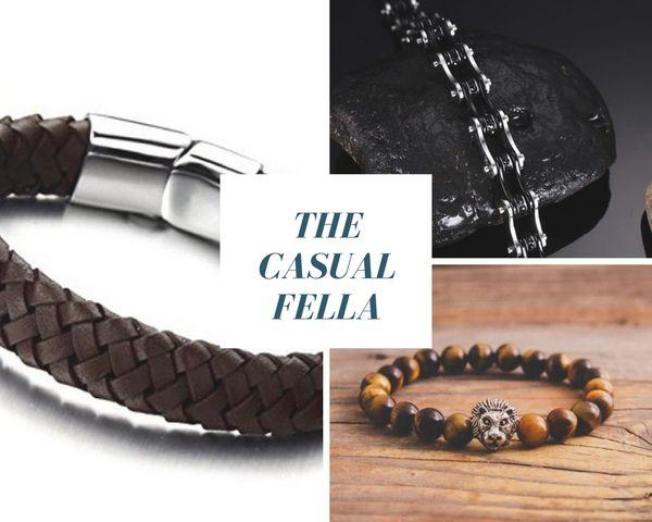 Casual 3 Piece bracelet set - Brown & Black