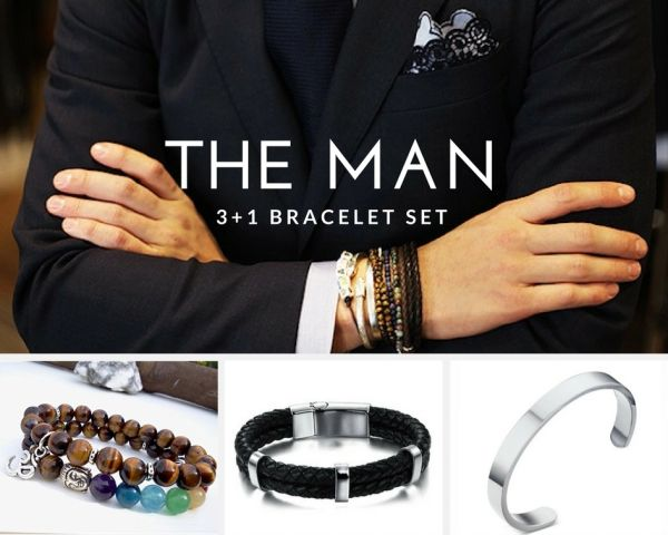 The Man 3 Piece bracelet set