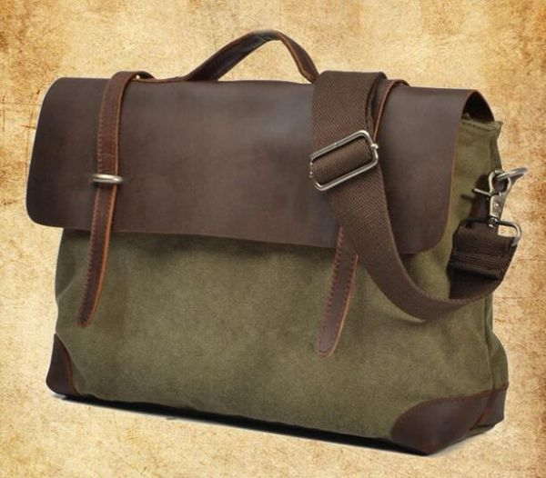 Canvas messenger bag cross body