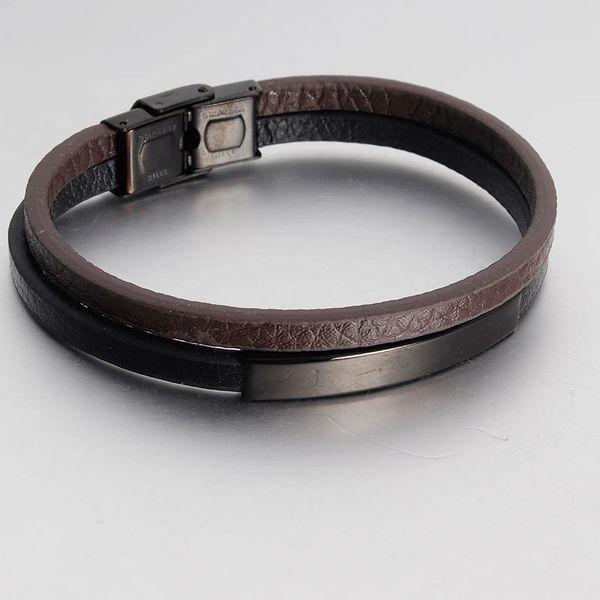 Double strand leather bracelet