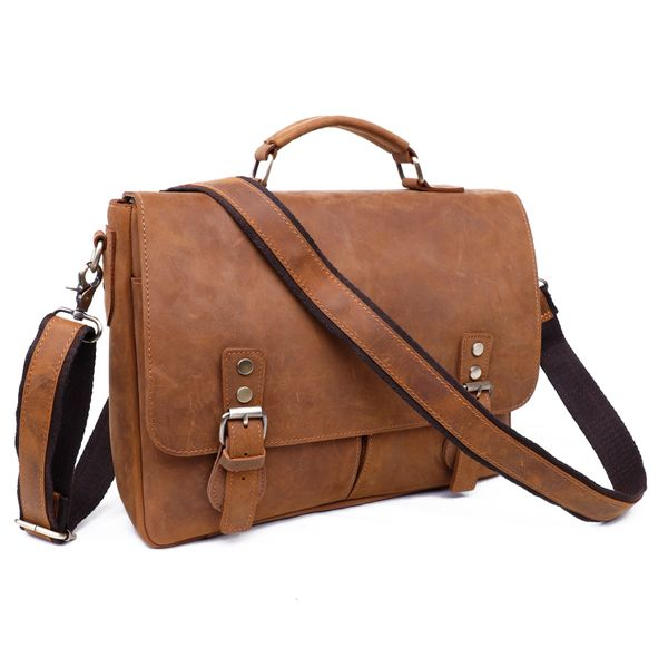 Leather messenger bag/briefcase