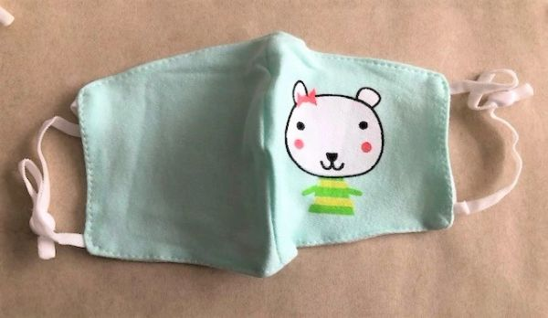 Printed fabric mask for Kids 1PC