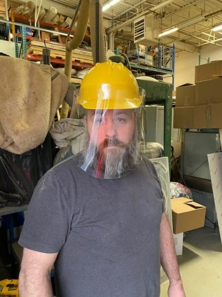 West Island Made Construction worker Face Shield (taxes included)