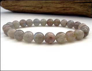 Labradorite stone beaded bracelet
