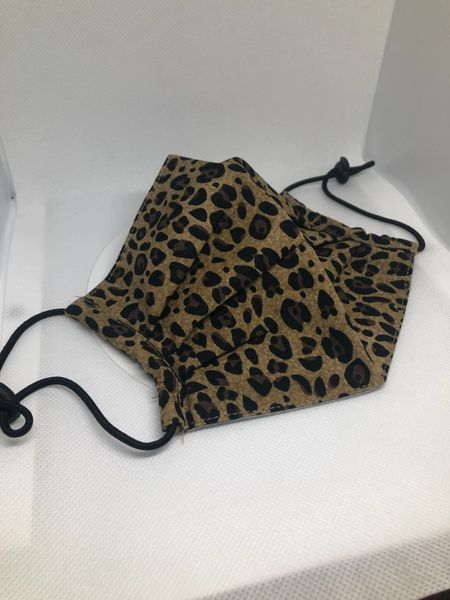 Printed fabric pleated mask Animal print