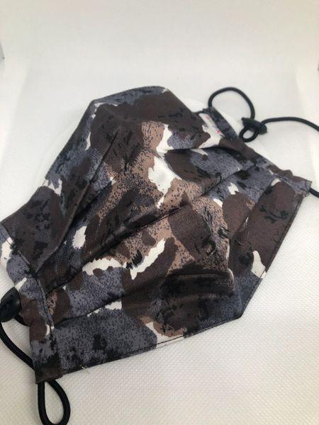 Printed fabric pleated mask fashion camo
