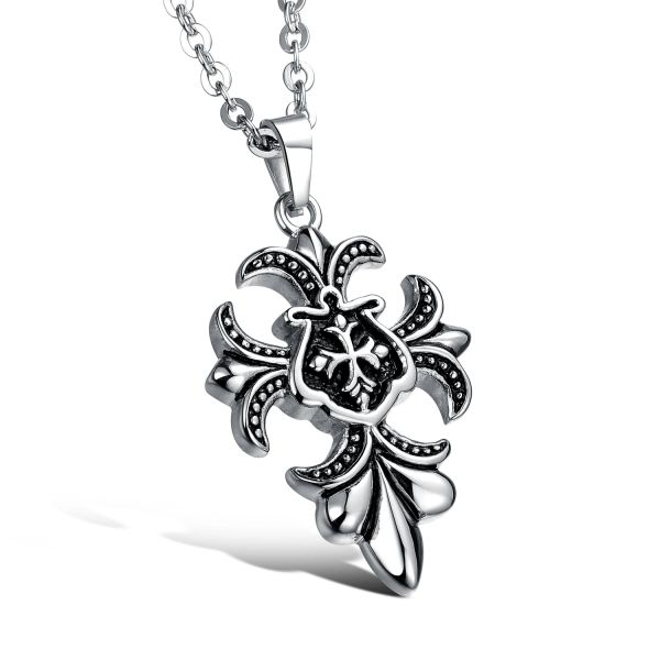 Stainless steel Viking style pendant and chain