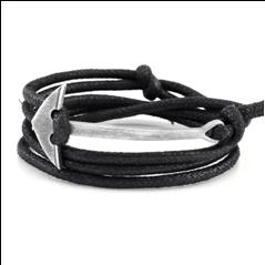 Leather wrap bracelet with arrow