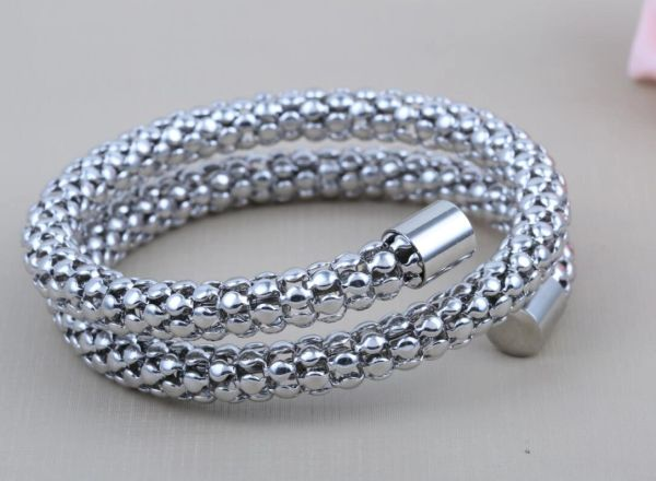 Stainless steel light weight wrap bracelet
