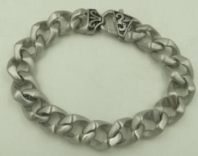 Thick heavy stainless steel chain link bracelet