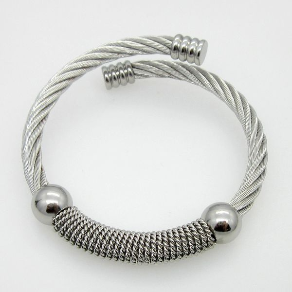 Stainless Steel twisted wire expandable bangle