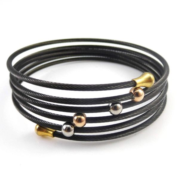 Stainless steel wire wrap bracelet