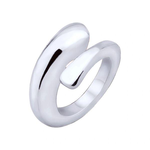 Stainless steel swirl charm bead