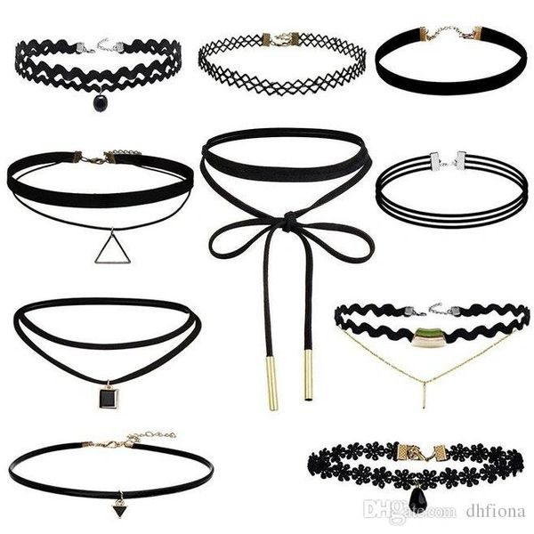 Black choker set
