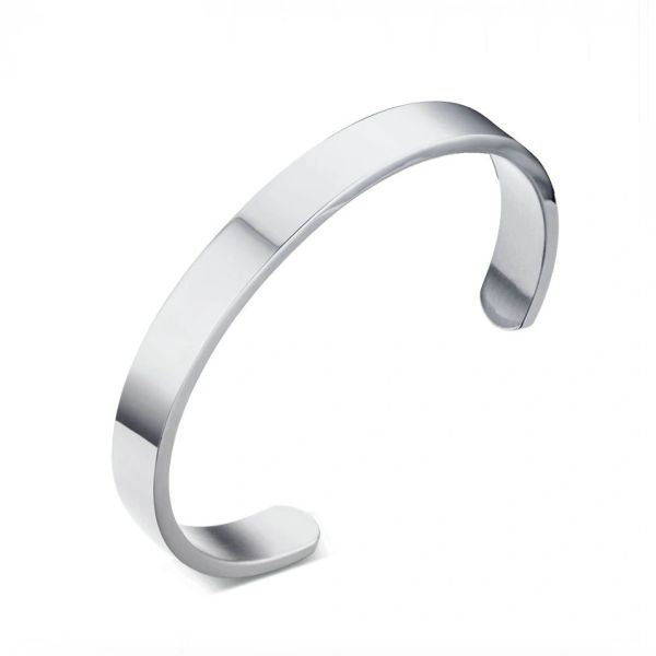Stainless steel solid bangle