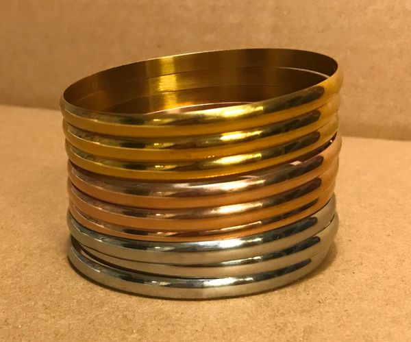 Stainless steel bangle set