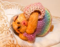 Scented potpourri better sleep poppet needle felted