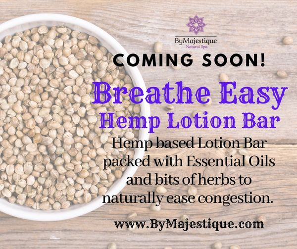 Breathe Easy Hemp Lotion Bar