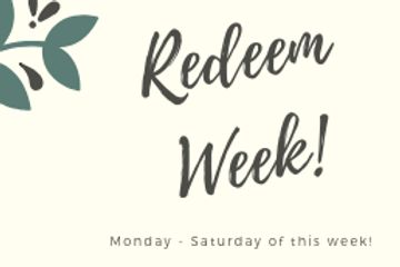 Redeem your rewards bucks this week.