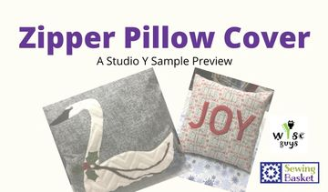 Sign up for a class on how to put a zipper in the back of a pillow.