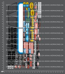 1/10TH ASSOCIATED - RC10 - GENERIC SHEET 1 DECALS