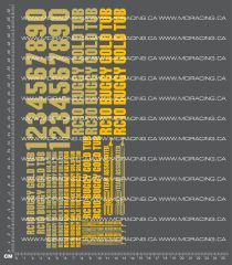 1/10TH ASSOCIATED - RC10 - GOLD TUB DECALS