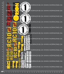 1/10TH ASSOCIATED - RC10 B2 BOX ART DECALS